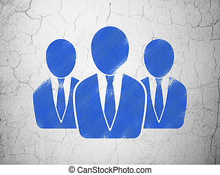 Law concept: Business People on wall background