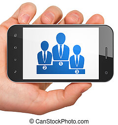 Law concept: Business Team on smartphone