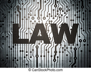 Law concept: circuit board with Law