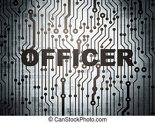 Law concept: circuit board with Officer