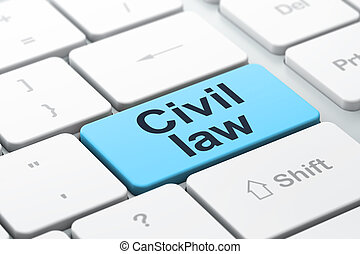 Law concept: Civil Law on computer keyboard background