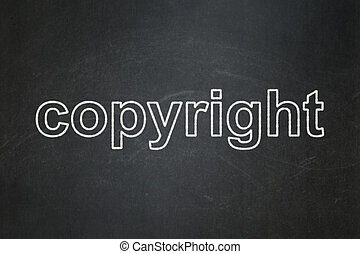 Law concept: Copyright on chalkboard background