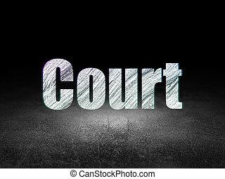 Law concept: Court in grunge dark room