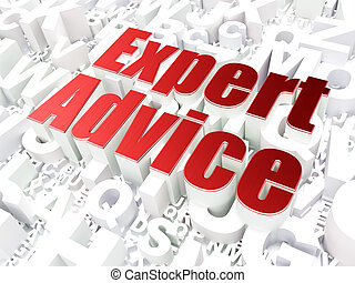 Law concept: Expert Advice on alphabet background