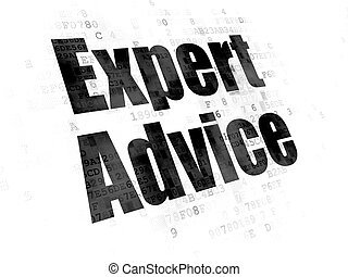 Law concept: Expert Advice on Digital background - Law...