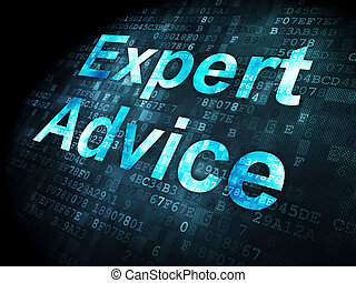 Law concept: Expert Advice on digital background