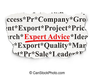 Law concept: Expert Advice on Paper background