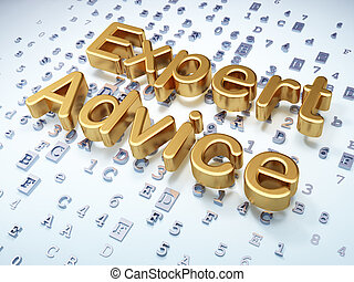 Law concept: Golden Expert Advice on digital background, 3d...