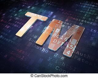 Law concept: Golden Trademark on digital background