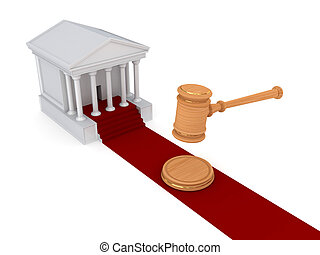 Law concept. Isolated on white background.3d rendered illustration.