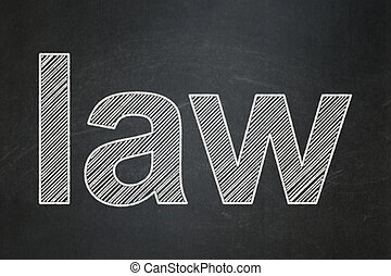 Law concept: Law on chalkboard background