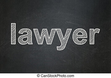 Law concept: Lawyer on chalkboard background