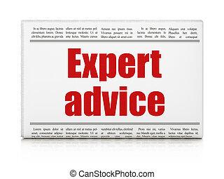 Law concept: newspaper headline Expert Advice