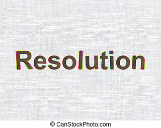 Law concept: Resolution on fabric texture background