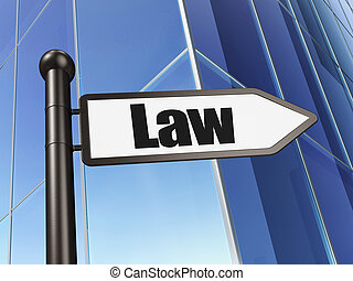 Law concept: sign Law on Building background