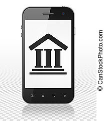 Law concept: Smartphone with Courthouse on display - Law...