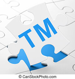 Law concept: Trademark on puzzle background