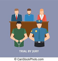 Law concept with jury trial