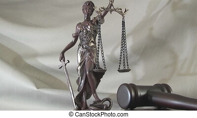 Law concept with Themis symbol of justice