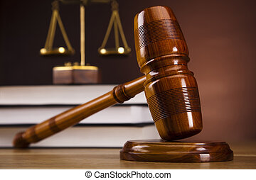 Law concept,wooden gavel