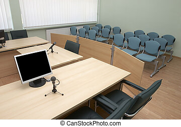 law court - interior view of court room office conference...