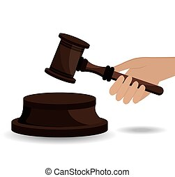 Law design. - Law design over white background, vector...