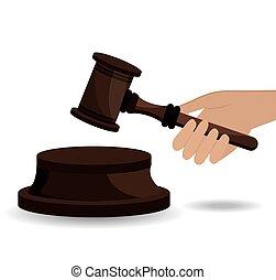 Law design. - Law design over white background, vector...
