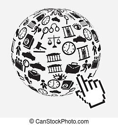 Law design over gray background, vector illustration