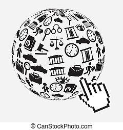 Law design over gray background,vector illustration