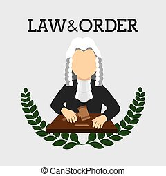Law design, vector illustration. - Law design over white...