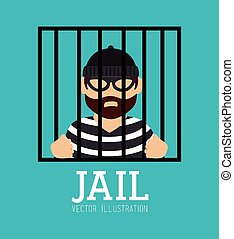 Law design, vector illustration. - Law design over blue...