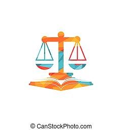 Vector Libra and open book logo combination.