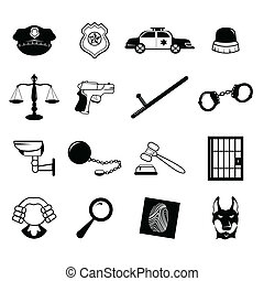 Law enforcement icons - A vector illustration of law...