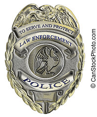 law enforcement police badge - illustration of a sheriff law...