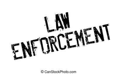 Law Enforcement rubber stamp. Grunge design with dust...
