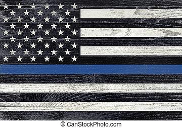 Law Enforcement Support Flag - A law enforcement police...