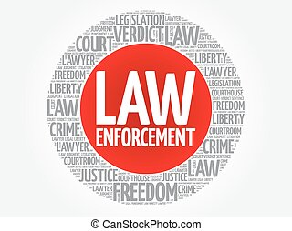 Law enforcement word cloud concept