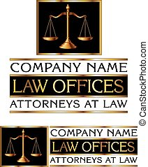 Law Firm Design is an illustration of a full color design that can be used for law offices, lawyers or law firms.