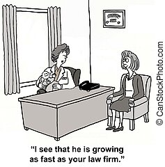 """Law Firm Growth - """"I see he is growing as fast as your law..."""