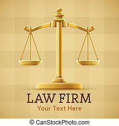 Law Firm Justice Scale - Law firm justice scale background...