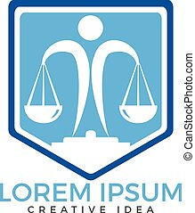Law firm logo template.