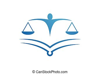 Law firm Logo Template vector icon illustration design