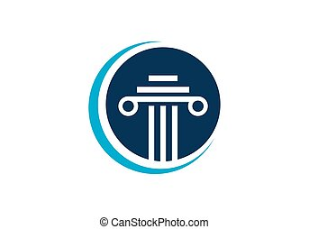 Law firm logo design. Law office logo. the judge, law firm logo ...