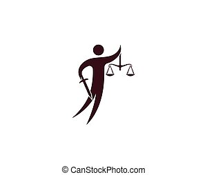 Law firm logo vector template  Law firm logo and symbols
