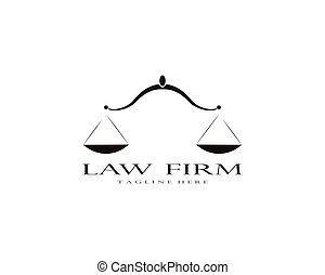 Law firm logo vector template