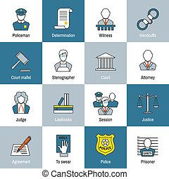 Law Icon Flat Line