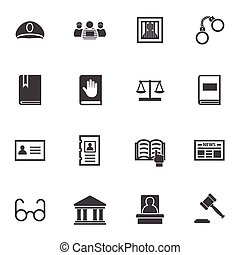 Law icon set.