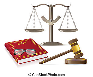 law icons vector illustration