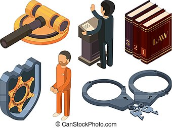 Law justice isometric. Legal hamer courtroom punishment...