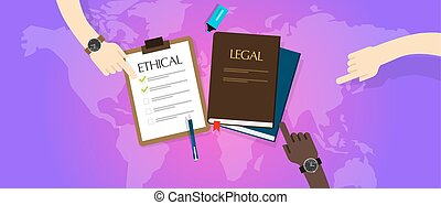 law legal vs ethical ethics vector moral